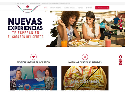 "<a href=""https://www.caminoreal.com.co/"">Página web CAMINO REAL</a>"