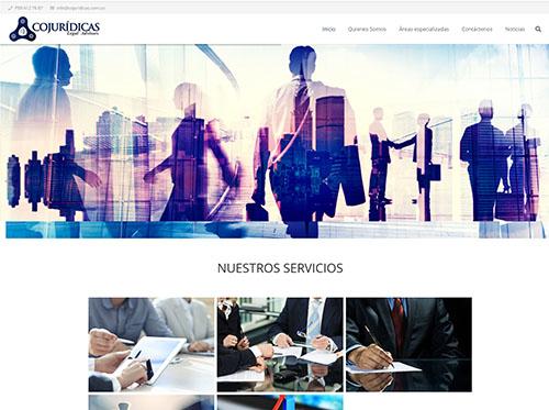 Página web COJURIDICAS