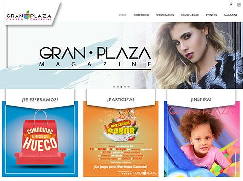 "<a href=""http://www.granplaza.co/"">Página web GRAN PLAZA</a>"
